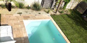 Exotengarten: Poolbereich